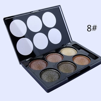 6 Color Glittery (Smoky Earth Tone) Eye Shadow Palette
