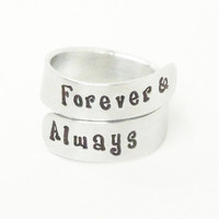 Forever & always ring - Relationship ring promise ring couples ring - Boyfriend girlfriend ring - Forever and always jewelry