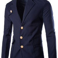 Plain Single Breasted Long Sleeve Suit