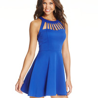 Trixxi Juniors' Flared Cutout Dress