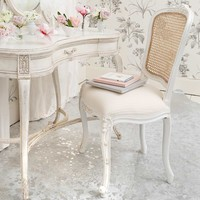 NEW! Provencal White French Chair