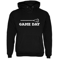 Game Day Lacrosse Black Adult Hoodie