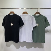 HCXX 2106 Stone Island 19SS Letter Embroidered Star Reflective Short Sleeve T-shirt