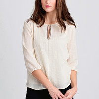 Country Breeze Embroidered Blouse