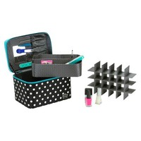 Caboodles Nail Case-Black/White/Teal