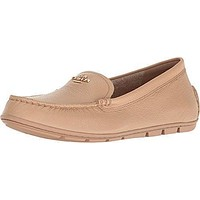 Coach Mary Lock Up Women Round Toe Leather Nude Flats