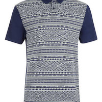 NAVY TEXTURED POLO SHIRT - Sale Polo Shirts - Sale
