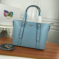 prada women leather shoulder bags satchel tote bag handbag shopping leather tote crossbody 211