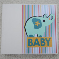 6x6 Baby Jungle Animal Scrapbook Photo Album