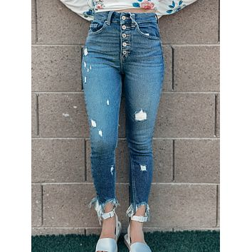 The Valley High Rise Ankle Skinny Jeans