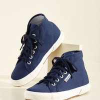 Aye, Aye, Action! Sneaker in Navy | Mod Retro Vintage Flats | ModCloth.com