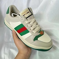 GUCCI GG Men's and Women's Double G Fashion Sneakers Shoes