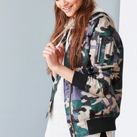 Silence + Noise Rita Shell Bomber Jacket | Urban Outfitters