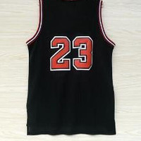 Top quality #23 Jerseys Classical Black/Red/White Basketball Jersey Men Sports wear embroidered Logos Cheap sports shirts