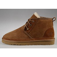UGG Men Wool Fur Short Boots Flats