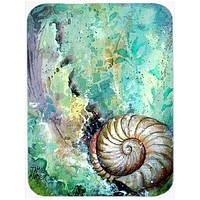The Treasure of the Surf Shell Glass Cutting Board Large PJC1037LCB