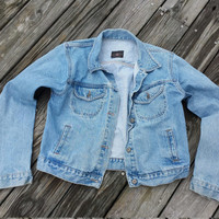 Vintage American Eagle Jean Jacket - Vintage Denim Jacket - Denim Vest Size M