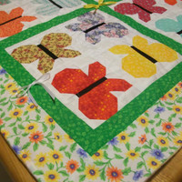 Colorful Butterfly Dance baby quilt