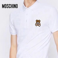 MOSCHINO Summer Fashion Men Women Casual Bear Embroidery Shirt Top