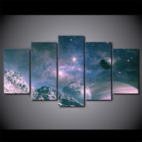 Universe Stars Sky Space Moon Wall Art on Canvas Print Picture Framed Unframed