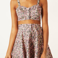 Ditsy Floral Button Bralet - Bralets - Tops  - Clothing