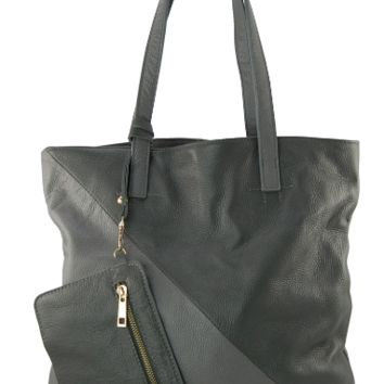 Grey with Charcoal Plié Tote