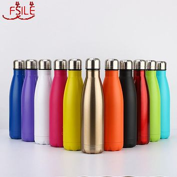 350/500/750/1000ml Double Wall Stainles Steel Water Bottle Thermos Bottle Keep Hot and Cold Insulated Vacuum Flask for Sport