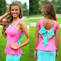 Pretty In Peplum Top