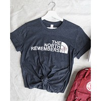 Distracted - The North Remembers Unisex T-Shirt in Dark Heather Grey