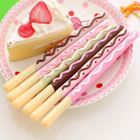 1 Pcs 0.5mm Korean Cute Kawaii Chocolate Cake Gel Pen Set For Writing Office School Supplies Stationery For Kids Student Gift