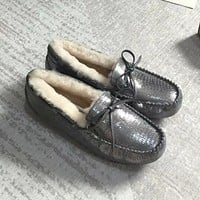 UGG Women Fashion Leather Fur Snow Boots Shoes