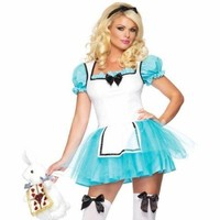 Enchanted Alice Costume Alice In Wonderland Costume Sexy Alice Dress Size- M/L