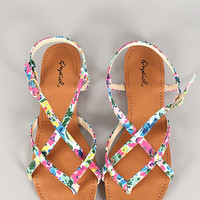 Floral Strappy Sandal