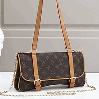 Louis Vuitton LV Shoulder Bag Crossbody Bag Armpit bag Coffee
