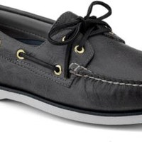 Sperry Top-Sider Gold Cup Authentic Original 2-Eye Boat Shoe GrayLeather, Size 9M  Men's Shoes