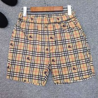 BURBERRY Trending Men Casual Plaid Bee Print Sport Running Shorts