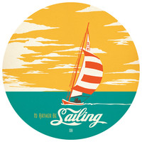 Anderson Design Group's I'd Rather Be Sailing Circle Decal