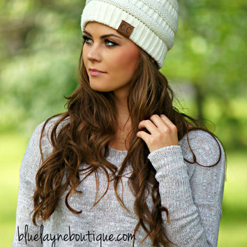 Slouchy CC Beanies (Ivory & other Colors)