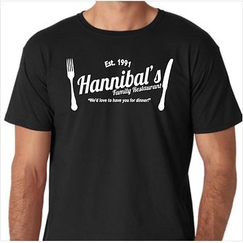 Hannibal's Family Restaurant Custom Made T-Shirt