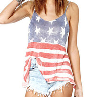 Stars And Stripes Print Cami Top -SheIn(Sheinside)