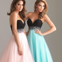 2012 Perfect A-line Sweetheart Neck Floor-length Prom Dresses Style 6452,Vintage Prom Dresses