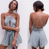 Summer Women Slim Sleeveless Rompers
