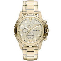 Fossil Dean Goldtone Chronograph Watch