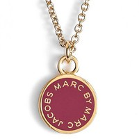 MARC BY MARC JACOBS Logo Pendant Necklace   Nordstrom