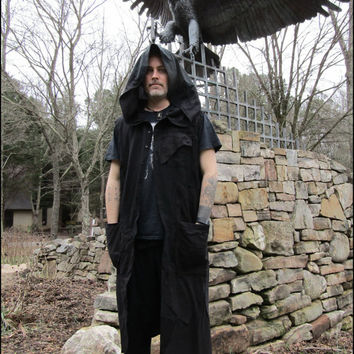 Dystopian hoodie vest gothic robe FREE US SHIPPING