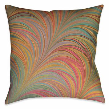 Multi-Color Marble Outdoor Decorative Pillow