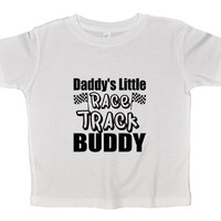 Daddy's Little Race Track Buddy Funny Kids Onesuit