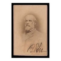 Robert E. Lee Signed Card 1860 Posters from Zazzle.com