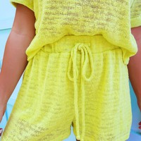 On A Roll Shorts: Citrus