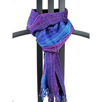 San Antonio Scarf - Purple/Blue - Maya Traditions (S)